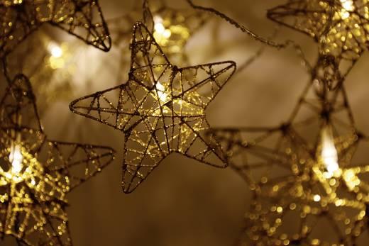 Motiv-Lichterkette Sterne Innen netzbetrieben 10 LED Warm-Weiß Beleuchtete Länge: 2.7 m Polarlite 711680