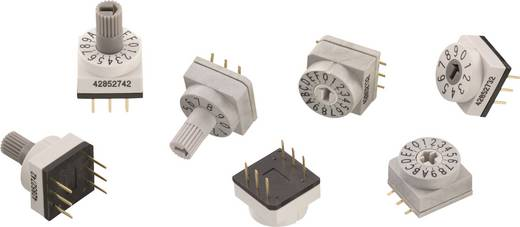 Drehschalter 24 V/DC 0.15 A Schaltpositionen 10 Würth Elektronik WS-RAS 428521320810 1 St.