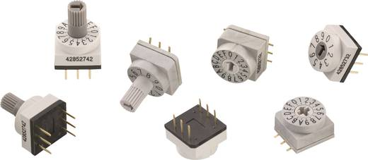 Drehschalter 24 V/DC 0.15 A Schaltpositionen 10 Würth Elektronik WS-RAS 428521320811 1 St.
