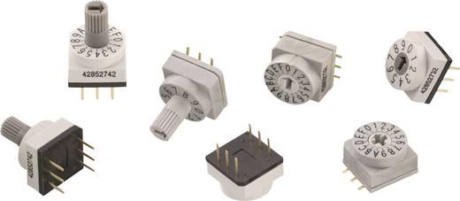 Drehschalter 42 V/DC 0.1 A Schaltpositionen 10 Würth Elektronik WS-RAT 428547320910 1 St.