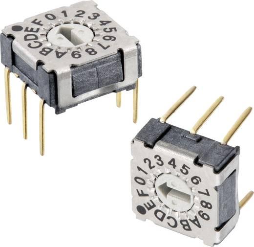 Drehschalter 42 V/DC 0.1 A Schaltpositionen 16 Würth Elektronik WS-RAT 428547320916 1 St.
