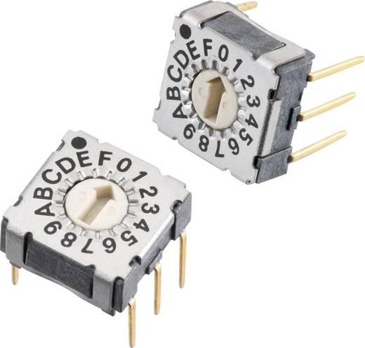 Drehschalter 42 V/DC 0.1 A Schaltpositionen 16 Würth Elektronik WS-RAT 428547320917 1 St.