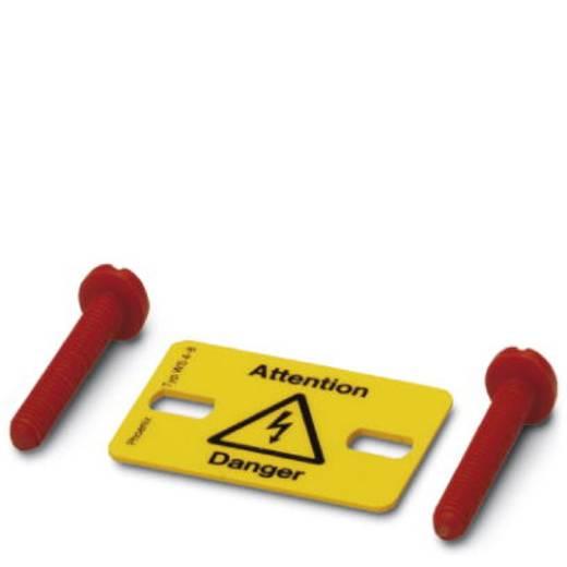 Warn-Kombischild Achtung Kunststoff (B x H) 20.4 mm x 21 mm DIN 61010-1 10 St.