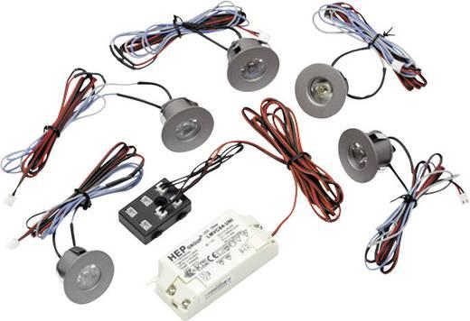 Thorn 96107429 LED-Einbauleuchte 5er Set 6 W Warm-Weiß Grau