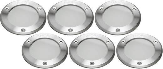 LED-Außeneinbauleuchte 6er Set 1.2 W Warm-Weiß Thorn 96257252 Edelstahl