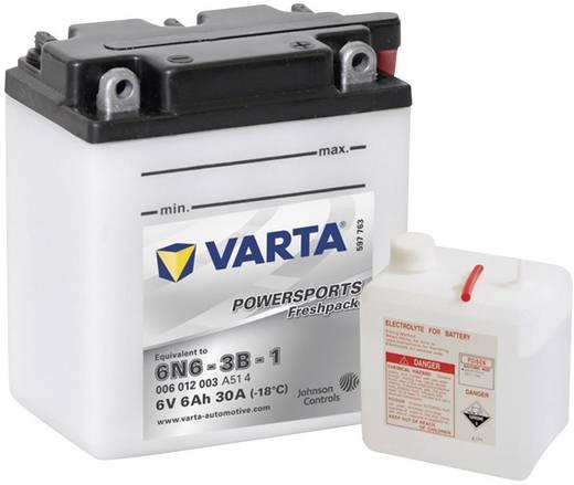 Motorradbatterie Varta 6N6-3B-1 6 V 6 Ah ETN 006 012 003 Passend für Modell Motorräder, Motorroller, Quads, Jetski, Schneemobile, Aufsitz-Rasenmäher