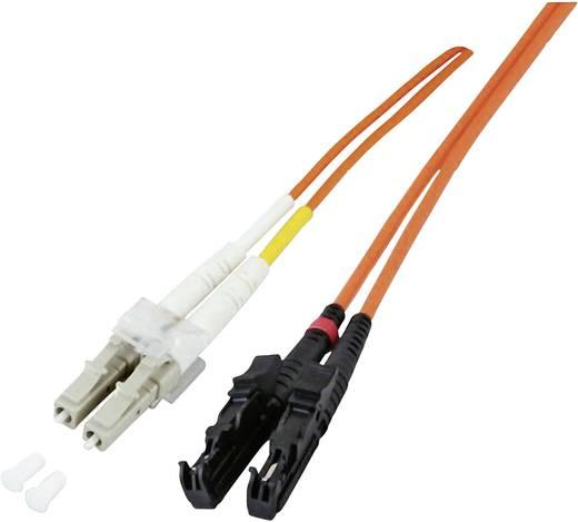Glasfaser LWL Anschlusskabel [1x E2000®-Stecker - 1x LC-Stecker] 50/125µ Multimode OM4 10 m EFB Elektronik