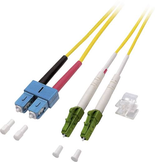 Glasfaser LWL Anschlusskabel [1x LC/APC 8°-Stecker - 1x SC-Stecker] 9/125µ Singlemode OS2 1 m EFB Elektronik