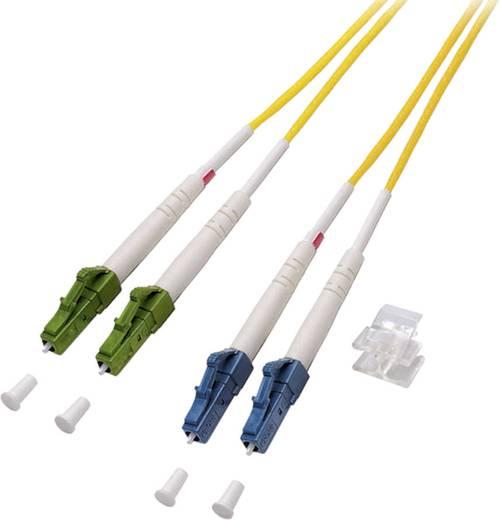 Glasfaser LWL Anschlusskabel [1x LC/APC 8°-Stecker - 1x LC/UPC-Stecker] 9/125µ Singlemode OS2 1 m EFB Elektronik