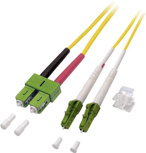 Glasfaser LWL Anschlusskabel [1x LC/APC 8°-Stecker - 1x SC/APC 8°-Stecker] 9/125µ Singlemode OS2 3 m EFB Elektronik