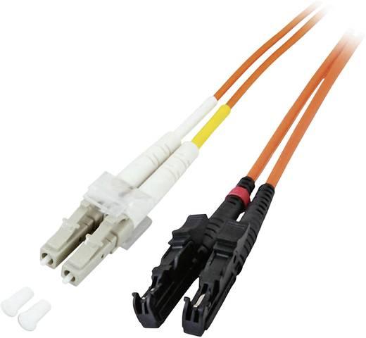 Glasfaser LWL Anschlusskabel [1x LC-Stecker - 1x E2000®-Stecker] 50/125µ Multimode OM2 2 m EFB Elektronik