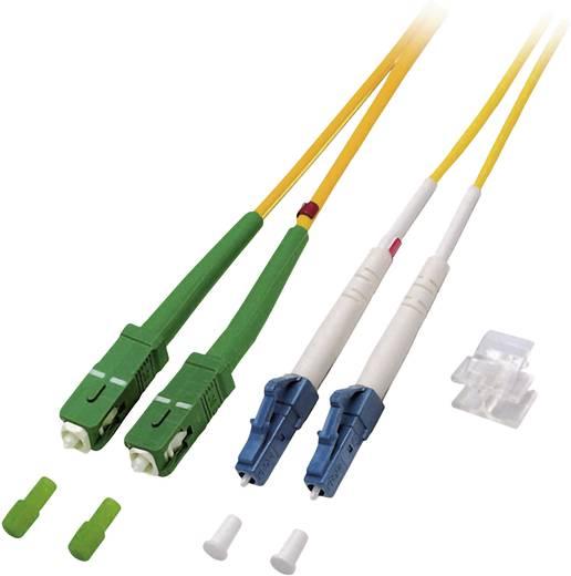 Glasfaser LWL Anschlusskabel [1x LC/UPC-Stecker - 1x SC/APC 8°-Stecker] 9/125µ Singlemode OS2 0.50 m EFB Elektronik