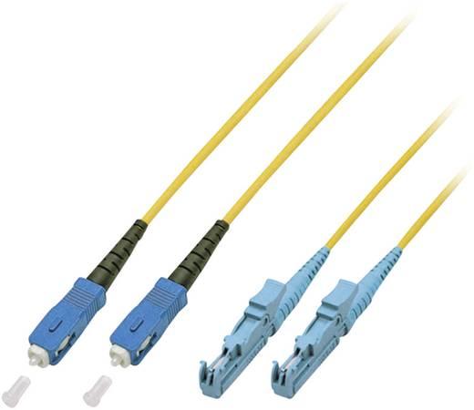 Glasfaser LWL Anschlusskabel [1x E2000®-Stecker - 1x SC-Stecker] 9/125µ Singlemode OS2 20 m EFB Elektronik