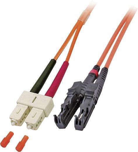 Glasfaser LWL Anschlusskabel [1x E2000®-Stecker - 1x SC-Stecker] 50/125µ Multimode OM2 0.50 m EFB Elektronik