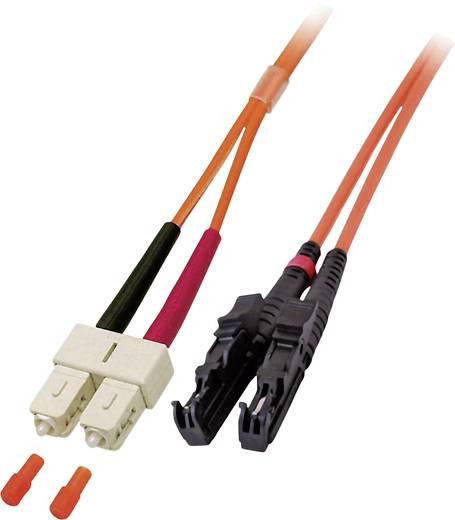 Glasfaser LWL Anschlusskabel [1x E2000®-Stecker - 1x SC-Stecker] 62,5/125µ Multimode OM1 15 m EFB Elektronik