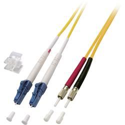 Optické vlákno LWL prepojovací kábel EFB Elektronik O0349.15 [1x zástrčka LC - 1x DIN zástrčka], 15.00 m, žltá
