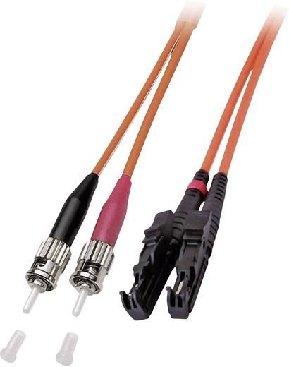 Glasfaser LWL Anschlusskabel [1x E2000®-Stecker - 1x ST-Stecker] 50/125µ Multimode OM2 7.50 m EFB Elektronik
