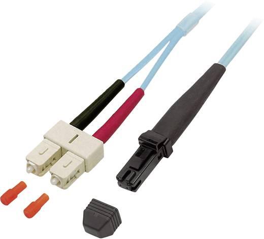 Glasfaser LWL Anschlusskabel [1x MTRJ-Stecker - 1x SC-Stecker] 50/125µ Multimode OM3 1 m EFB Elektronik