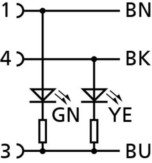 Escha 8045344 Sensor-/Aktor-Steckverbinder, konfektioniert M8 Buchse, gewinkelt 2 m Polzahl: 3 1 St.