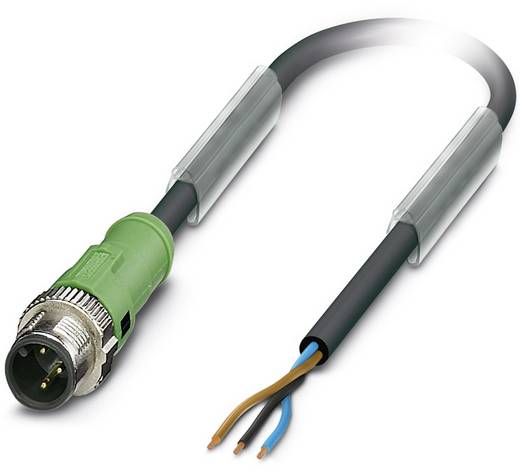 Sensor-/Aktor-Steckverbinder, konfektioniert M12 Stecker, gerade 1.50 m Polzahl: 3 Phoenix Contact 1518643 SAC-3P-MS/ 1,