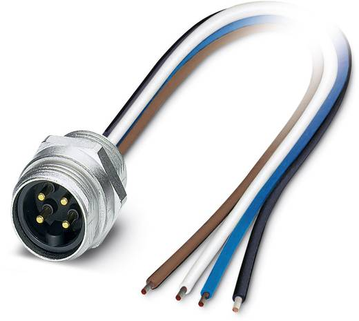 "Sensor-/Aktor-Einbausteckverbinder 7/8"" Stecker, Einbau 0.50 m Polzahl: 4 Phoenix Contact 1521436 SACC-E-MINMS-4CON-PG13"