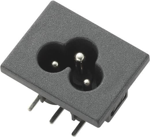 Kaltgeräte-Steckverbinder Stecker, Einbau horizontal Gesamtpolzahl: 2 + PE 2.5 A Schwarz C6 1 St.
