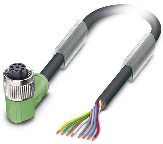 Sensor-/Aktor-Steckverbinder, konfektioniert M12 Buchse, gewinkelt 10 m Polzahl (RJ): 8 Phoenix Contact 1522655 SAC-8P-1