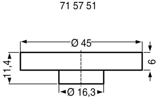 Drehknopf mit Fingermulde Anthrazit ALPS 863002 1 St.