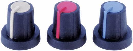 Drehknopf mit Zeiger Schwarz, Blau (Ø x H) 16 mm x 16 mm PB Fastener 3030420 1 St.