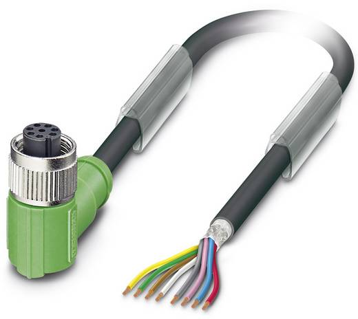 Sensor-/Aktor-Steckverbinder, konfektioniert M12 Buchse, gewinkelt 10 m Polzahl (RJ): 8 Phoenix Contact 1522943 SAC-8P-1