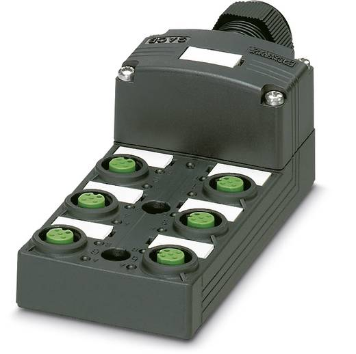 Sensor/Aktorbox passiv M12-Verteiler mit Kunststoffgewinde SACB-6/ 6-L-SC SCO P 1453009 Phoenix Contact 1 St.