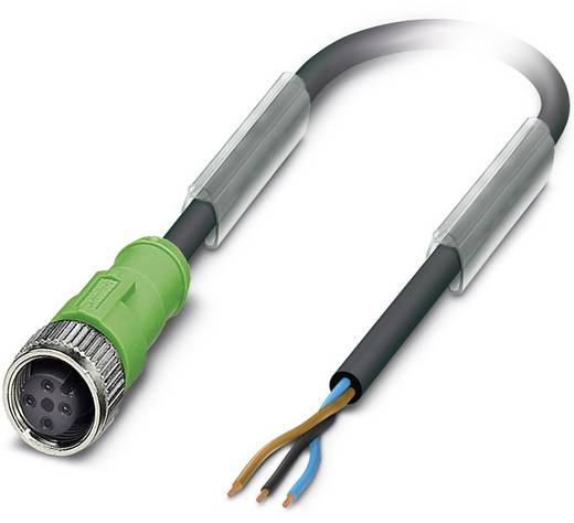 Sensor-/Aktor-Steckverbinder, konfektioniert M12 Buchse, gerade 5 m Polzahl: 3 Phoenix Contact 1668098 SAC-3P- 5,0-PUR/M