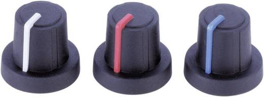 Drehknopf mit Zeiger Schwarz, Grau (Ø x H) 19 mm x 16 mm PB Fastener 3/03/TPN 130006 1 St.