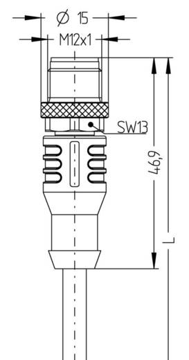 "M12 Sensor-/Aktor-Kabel ""Automation Line"" Pole: 8 AL-WAS8-2/S370 Escha Inhalt: 1 St."