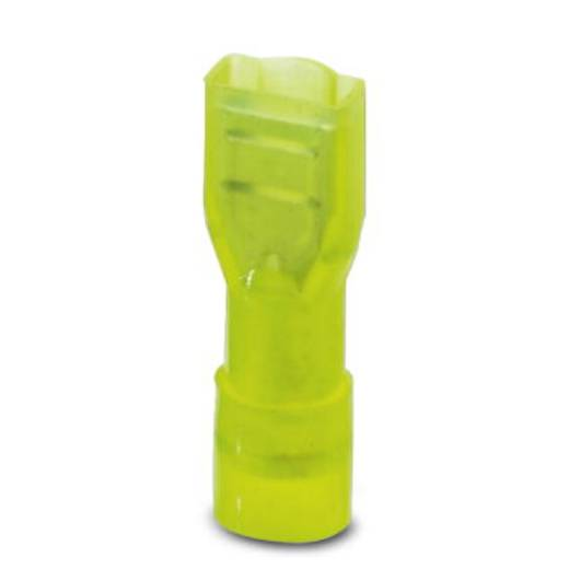 Flachsteckhülse Steckbreite: 6.3 mm Steckdicke: 0.8 mm 180 ° Vollisoliert Gelb Phoenix Contact 3240541 25 St.