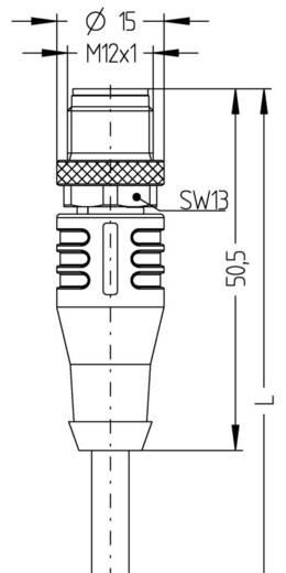 Sensor-/Aktor-Steckverbinder, konfektioniert M12 Stecker, gerade 5 m Polzahl: 8 Escha 8046996 AL-WASS8-5/S370 1 St.