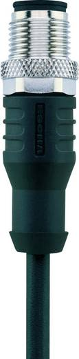 Sensor-/Aktor-Steckverbinder, konfektioniert M12 Stecker, gerade 2 m Polzahl: 12 Escha 8046926 AL-WAS12-2/S370 1 St.