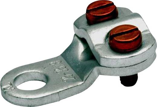 Ringkabelschuh 2 Schrauben Querschnitt (max.)=16 mm² Loch-Ø=8.5 mm Unisoliert Metall Klauke 573R8 1 St.