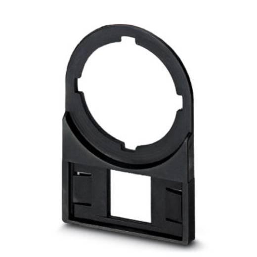 Zeichenträger Montageart: aufschieben Beschriftungsfläche: 27 x 8 mm Passend für Serie Taster und Schalter 22 mm Schwarz