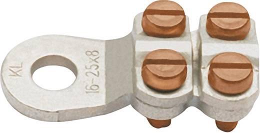 Ringkabelschuh 4 Schrauben Querschnitt (max.)=25 mm² Loch-Ø=8.5 mm Unisoliert Metall Klauke 584R8 1 St.