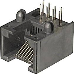 Image of ASSMANN WSW A-20040/LP Modulare Einbaubuchse A-20040/LP Buchse, Einbau horizontal Pole: 4P4C Schwarz 1 St.