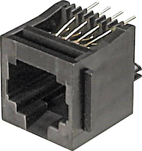 Modulare Einbaubuchse Buchse, Einbau vertikal RJ12 Pole: 6P6C A-20141 Schwarz ASSMANN WSW A-20141 1 St.