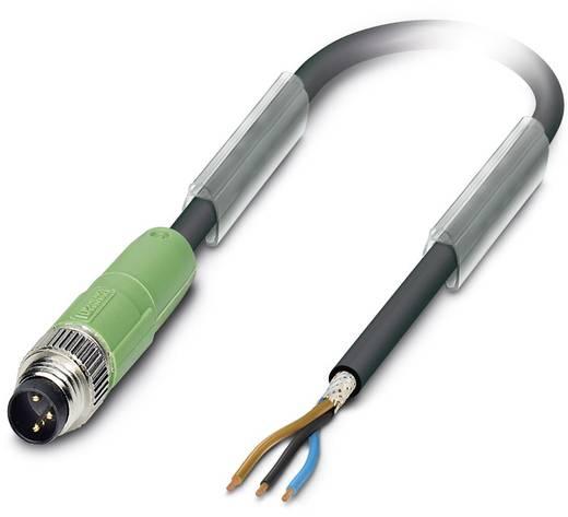 Sensor-/Aktor-Steckverbinder, konfektioniert M12 Stecker, gerade, Buchse, gewinkelt 0.60 m Polzahl (RJ): 3 Phoenix Conta
