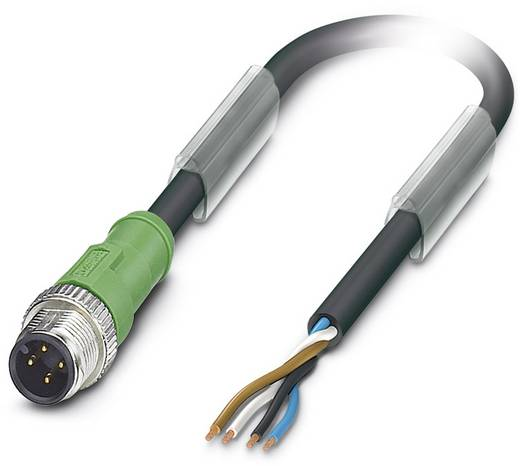 Sensor-/Aktor-Steckverbinder, konfektioniert M12 Stecker, gerade 5 m Polzahl: 4 Phoenix Contact 1509458 SAC-4P-M12MS/ 5,
