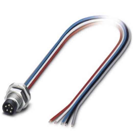 Sensor-/Aktor-Einbausteckverbinder M8 Stecker, Einbau 0.50 m Polzahl (RJ): 5 Phoenix Contact 1424234 SACC-E-M8MS-5CON-M1
