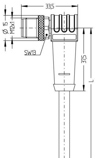 Sensor-/Aktor-Steckverbinder, konfektioniert M12 Stecker, gewinkelt 5 m Polzahl: 8 Escha 8046999 AL-WWASS8-5/S370 1 St.