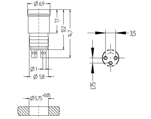 Sensor-/Aktor-Einbausteckverbinder M8 Stecker, Einbau Polzahl: 3 Escha 8008163 ESP3S 1 St.