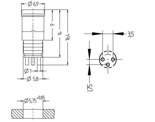 Sensor-/Aktor-Einbausteckverbinder M8 Stecker, Einbau Polzahl: 3 Escha 8008161 ESHP3L 1 St.