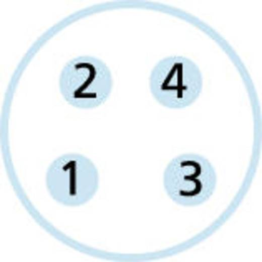 M8 Einbaustecker Pole: 4 ESP4S Escha Inhalt: 1 St.