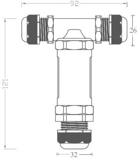 Leitungsverbinder Maxi T-gewinkelt THB.402